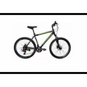 Велосипед Hartman Black Stone Pro 26 (2019) черный-зеленый-с...