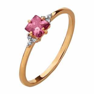 Золотое кольцо с родолитами