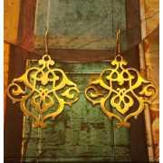 Серьги Сокровища Персии, позолоченное серебро...