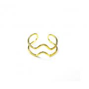 Кольцо Биение, золото 585