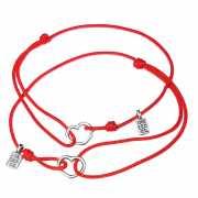 Парные браслеты для мам и дочек - Сердечки, серебро 925...