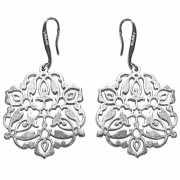 Серьги Мандала, серебро 925