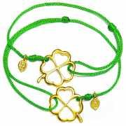 Парные браслеты Четырехлистный Клевер, золото 585...
