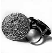 Кольцо Календарь 35 мм, серебро 925