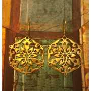 Серьги Арабеска, золото 750