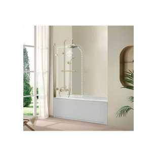 Шторка для ванны Cezares Retro A-V-1-80/145-CP-G-L