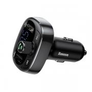 Автомобильное зарядное устройство Baseus T Typed Bluetooth M...