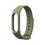 Сменный браслет Xiaomi Mi Band 2 однотонный (Хаки)...