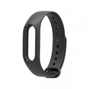 Сменный браслет Xiaomi Mi Band 3/4 однотонный (Темно-серый)...
