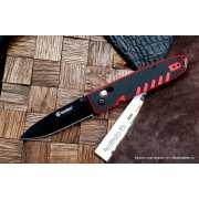 Нож складной Firebird (by Ganzo) F746-3-RB черно-красный...