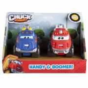 CHUCK & FRIENDS машинки 5 см (набор 2 шт.) Хэнди и Бумер...
