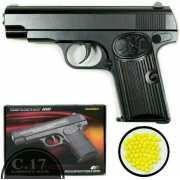 Игрушечный пневматический металлический пистолет Airsoft Gun...