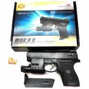Пневматический пистолет с лазерным прицелом и пульками