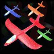 Самолет планер синий 46 см. с подсветкой корпуса...