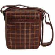 Коричневая сумка со светлой отделкой Dr.Koffer B402249-02-09...