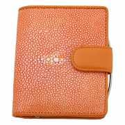 Портмоне оранжевого цвета из фактурной кожи Dr.Koffer X51011...