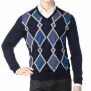 Др.Коффер  20601 синий пуловер (48 S)