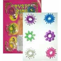 Эрекционные кольца: Набор из шести разноцветных эрекционных ...