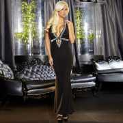 Эротическое платье: Вечернее черное платье в пол от Hustler...