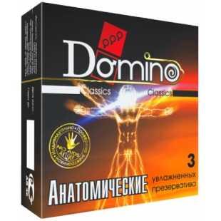 Презервативы: Презервативы анатомической формы Domino  Анатомические  - 3 шт.