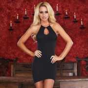 Эротическое платье: Черное платьице с вырезом-капелькой...