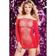Эротическое платье: Откровенное платье в крупную сетку...