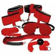 Эротические наборы: Ярко-красный набор для страстных игр...