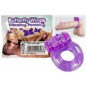 Эрекционные кольца: Фиолетовое эрекционное кольцо с виброэле...