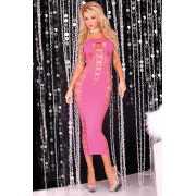Эротическое платье: Длинное облегающее платье без бретелей B...