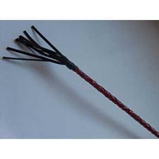 Кнуты, плётки, хлысты: Плетеный короткий красный стек с наконечником в виде длинной кисточки - 70 см.
