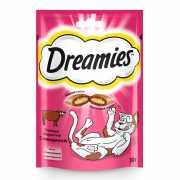Лакомство для кошек Dreamies лакомые подушечки с говядиной 3...