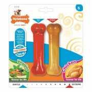 Игрушка для щенков Nylabone Набор Косточки с ароматами куриц...