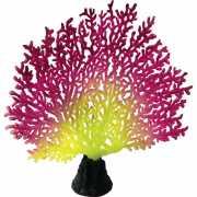 Декор для аквариумов JELLYFISH Коралл светящиеся красный роз...