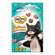 Лакомство для кошек МНЯМС Рыбный фестиваль (лосось, креветки...