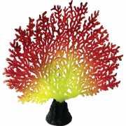 Декор для аквариумов JELLYFISH Коралл светящиеся красный жел...