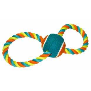 Игрушка для собак CHOMPER Тяни-толкай с теннисным мячом