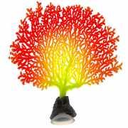 Декор для аквариумов JELLYFISH Коралл светящиеся красный зел...