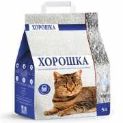 Наполнитель для кошачьего туалета ХОРОШКА впитывающий 5л...