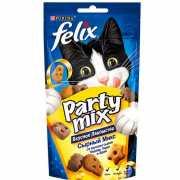 Лакомство для кошек FELIX Party mix Сырный Микс 60г...