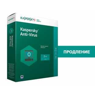 Kaspersky Anti-Virus Russian Edition. Продление (2 ПК, 1 год) (PC)