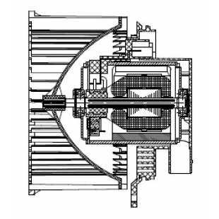 Электровентилятор отопителя Mazda 3 (BL) (09-) LUZAR