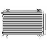 Радиатор кондиционера Avensis (03-) 1.6/1.8i/2.0D LUZAR...