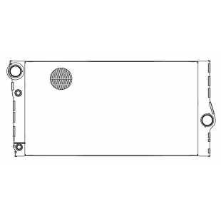 Радиатор охлаждения для автомобилей BMW 5 (F10) (10-)/7 (F01) (08-) D LUZAR