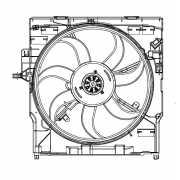 Электровентилятор охлаждения с кожухом для автомобилей X5 (E...