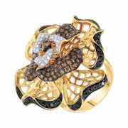 Кольцо из золота 585 пробы с бриллиантами (17,5)...
