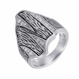 Кольцо из серебра 925 пробы с фианитами (18)