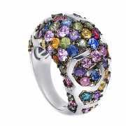 Кольцо из серебра 925 пробы с сапфирами (17)...