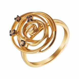 Кольцо из золота 585 пробы с бриллиантами (17)