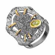 Кольцо из серебра 925 пробы с аметистами (18)...