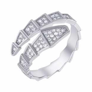 Кольцо из серебра 925 пробы с фианитами (16,75)